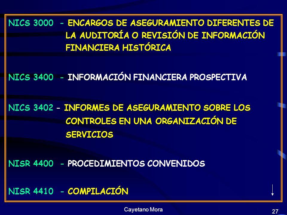 NICS 3400 - INFORMACIÓN FINANCIERA PROSPECTIVA