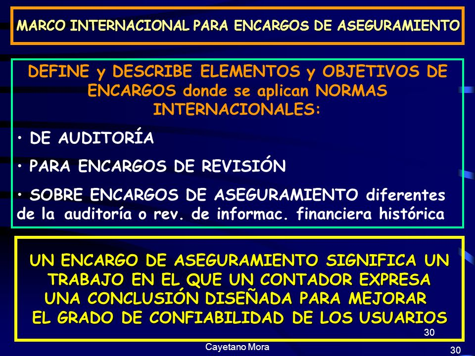 PARA ENCARGOS DE REVISIÓN