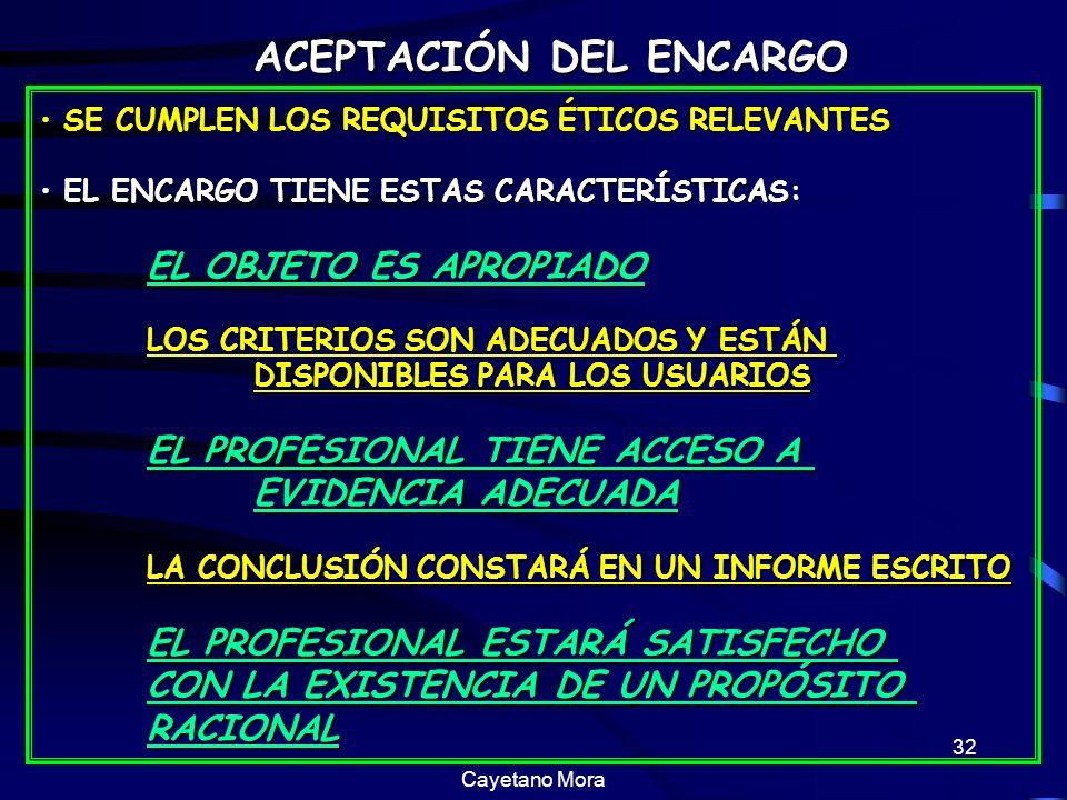 ACEPTACIÓN DEL ENCARGO