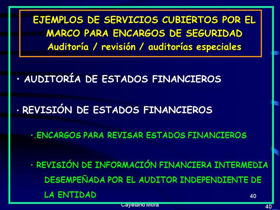 EJEMPLOS DE SERVICIOS CUBIERTOS POR EL