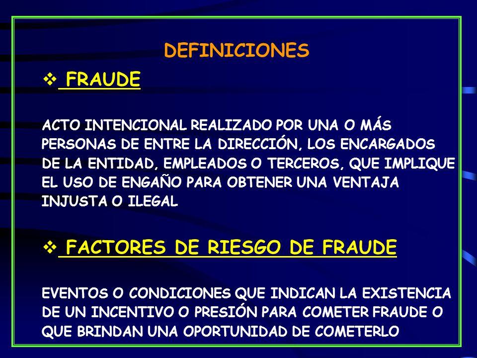 FACTORES DE RIESGO DE FRAUDE