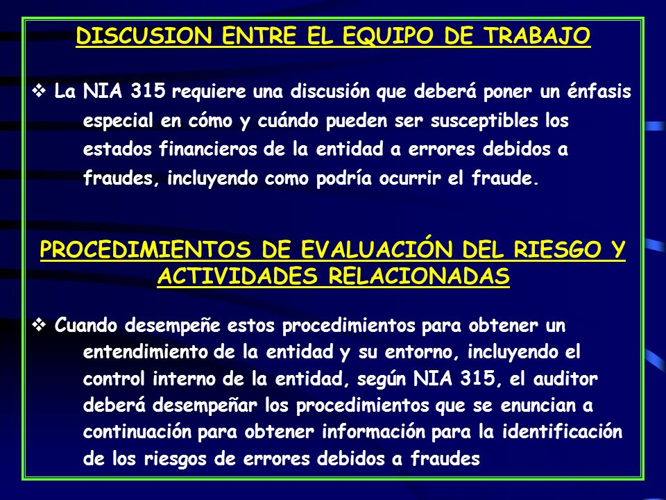 DISCUSION ENTRE EL EQUIPO DE TRABAJO