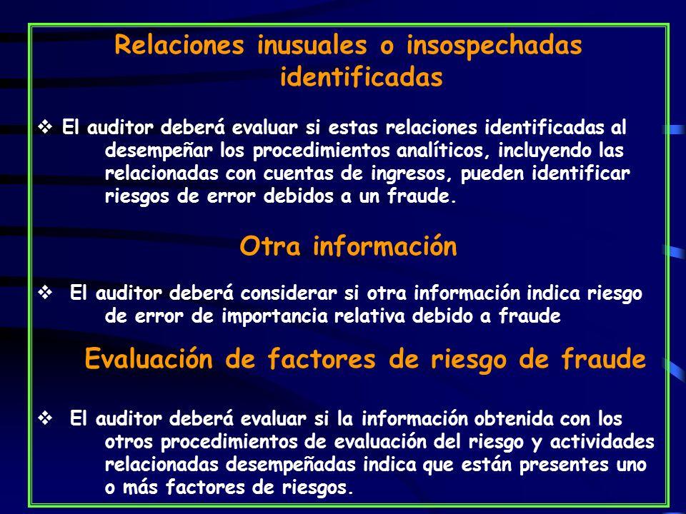 Evaluación de factores de riesgo de fraude