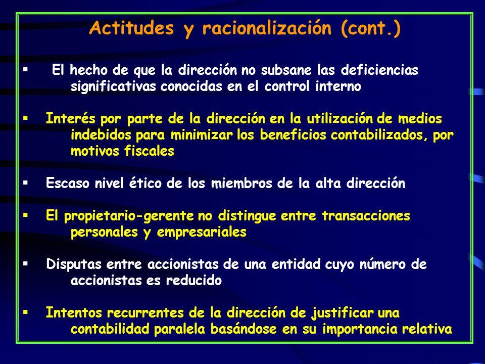 Actitudes y racionalización (cont.)
