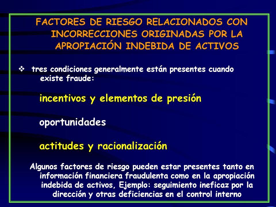 incentivos y elementos de presión oportunidades