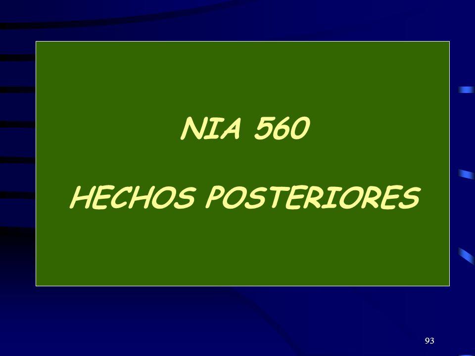 NIA 560 HECHOS POSTERIORES