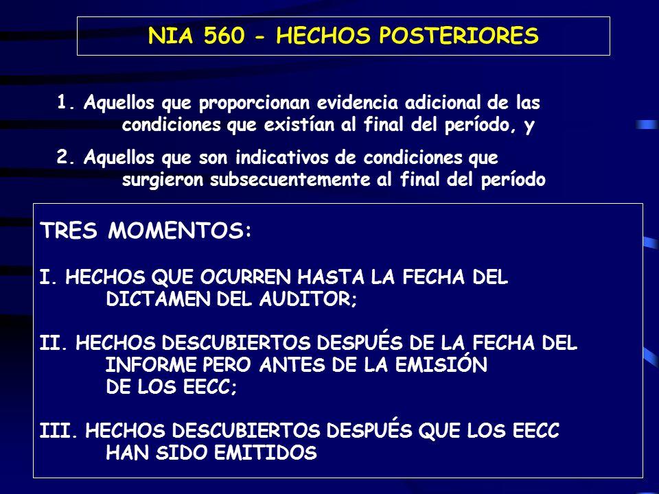 NIA 560 - HECHOS POSTERIORES