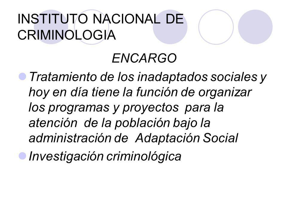 INSTITUTO NACIONAL DE CRIMINOLOGIA