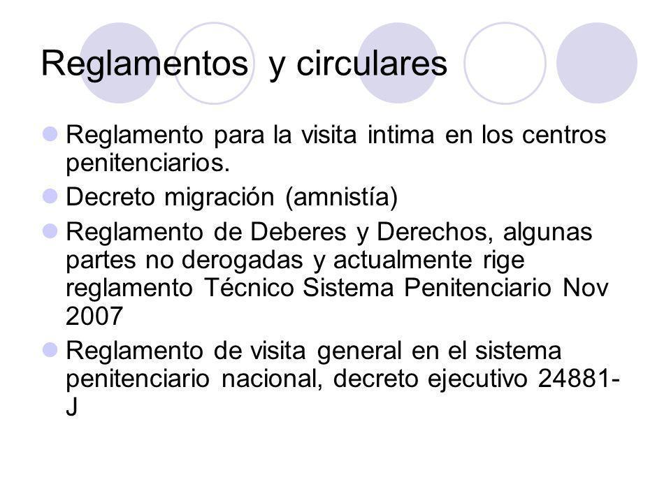 Reglamentos y circulares