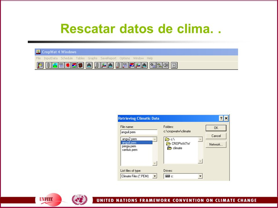 Rescatar datos de clima. .