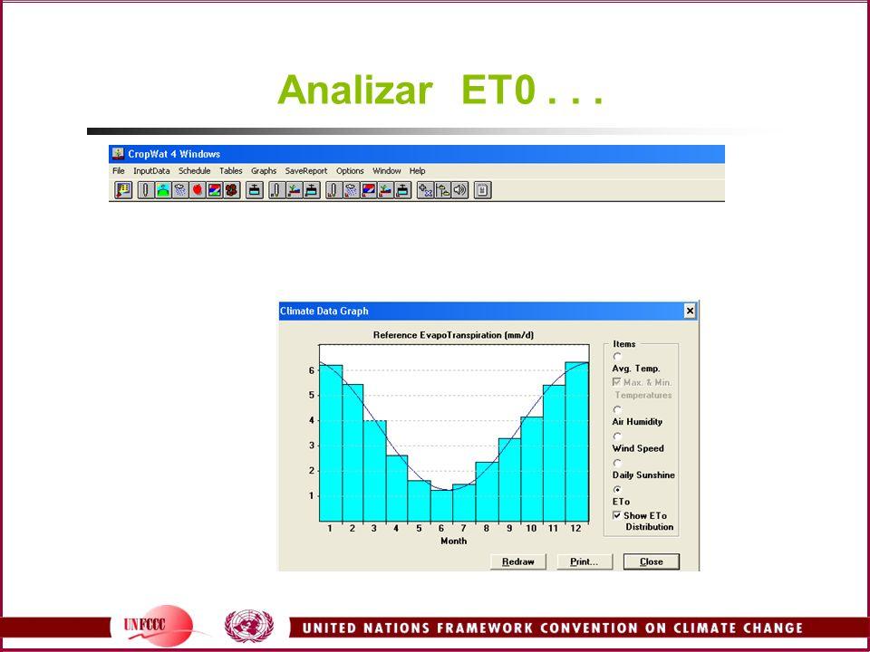 Analizar ET0 . . . Examine ETP . . .