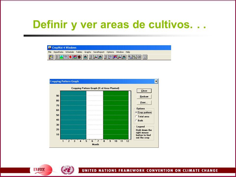 Definir y ver areas de cultivos. . .