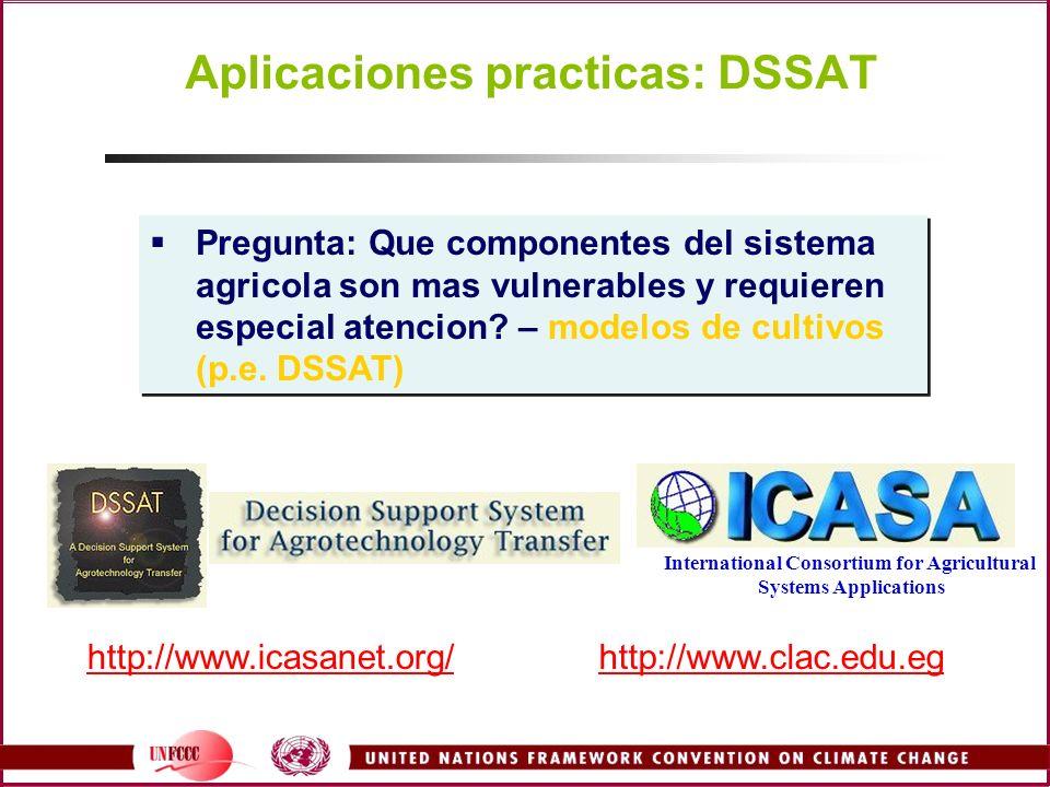 Aplicaciones practicas: DSSAT