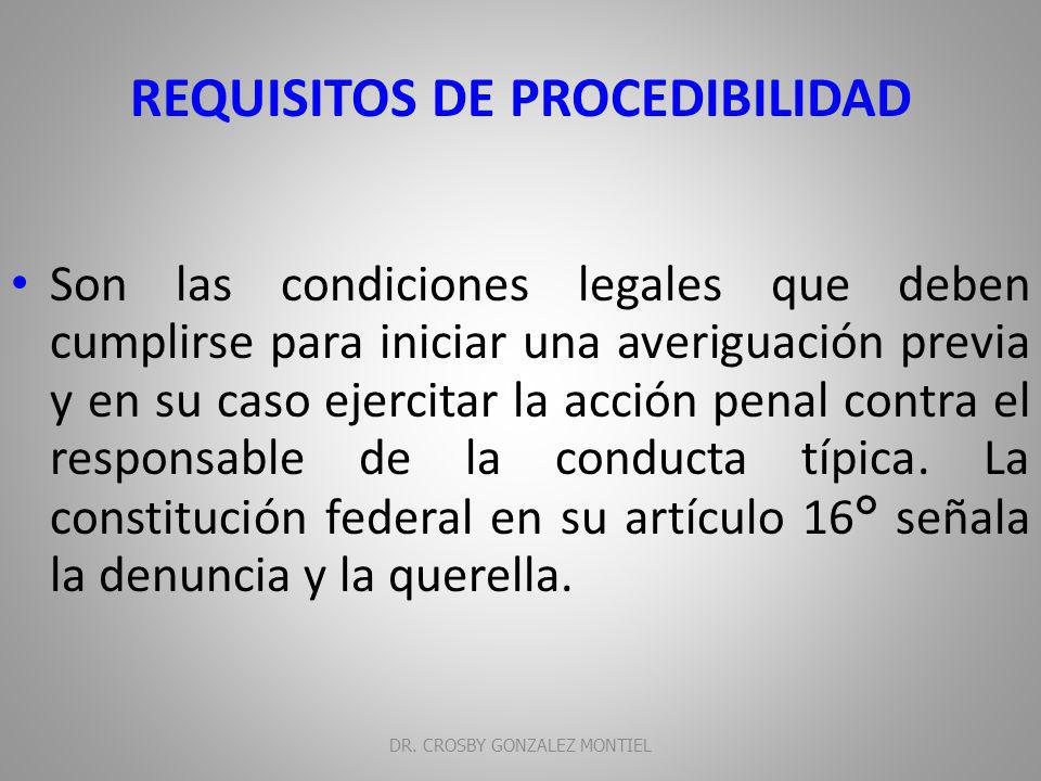 REQUISITOS DE PROCEDIBILIDAD