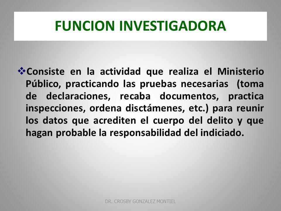 FUNCION INVESTIGADORA