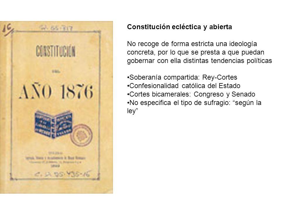 Constitución ecléctica y abierta