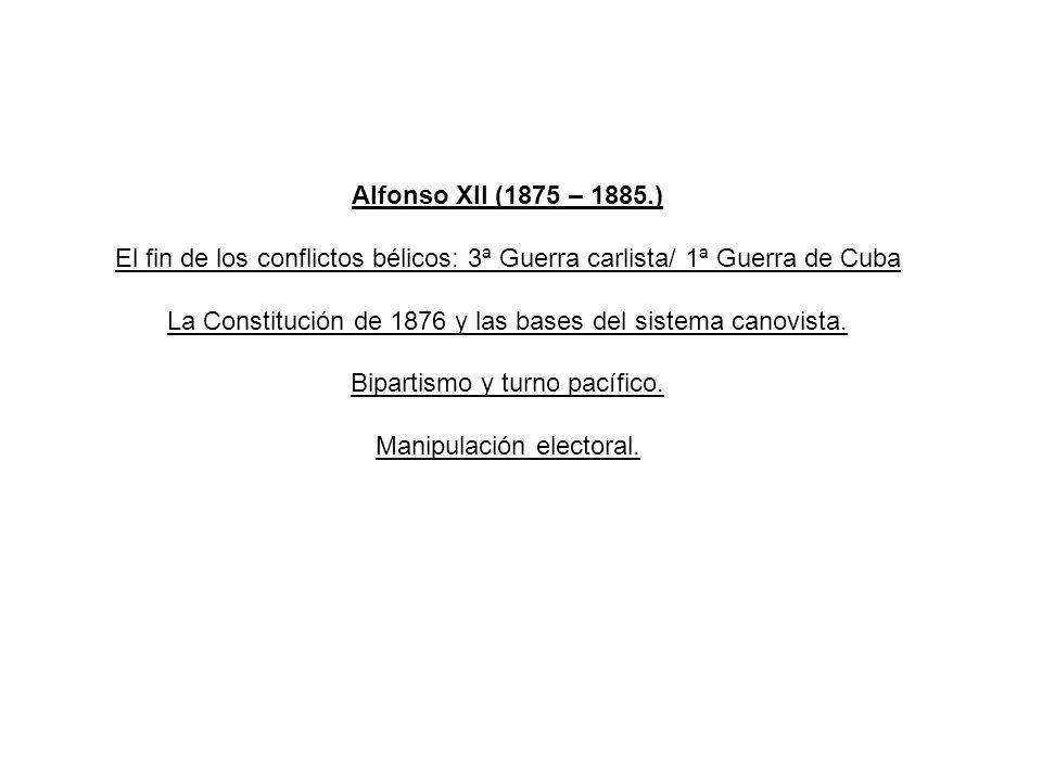 La Constitución de 1876 y las bases del sistema canovista.