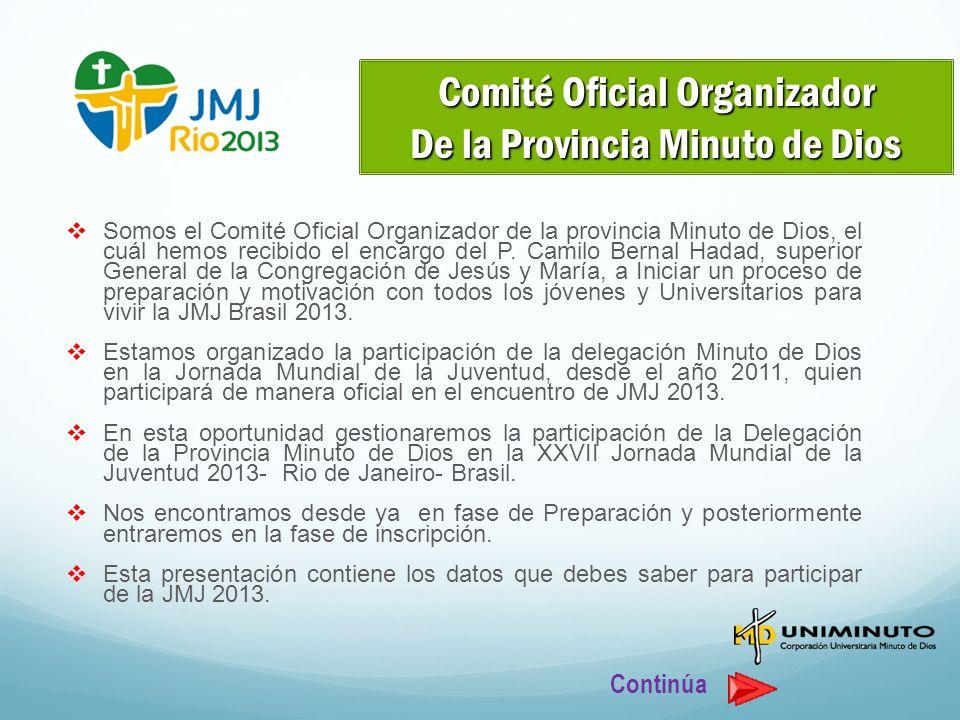 Comité Oficial Organizador De la Provincia Minuto de Dios