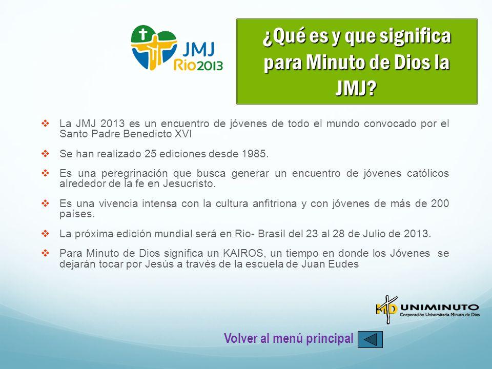 ¿Qué es y que significa para Minuto de Dios la JMJ