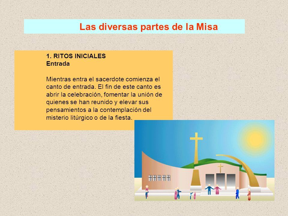 Las diversas partes de la Misa