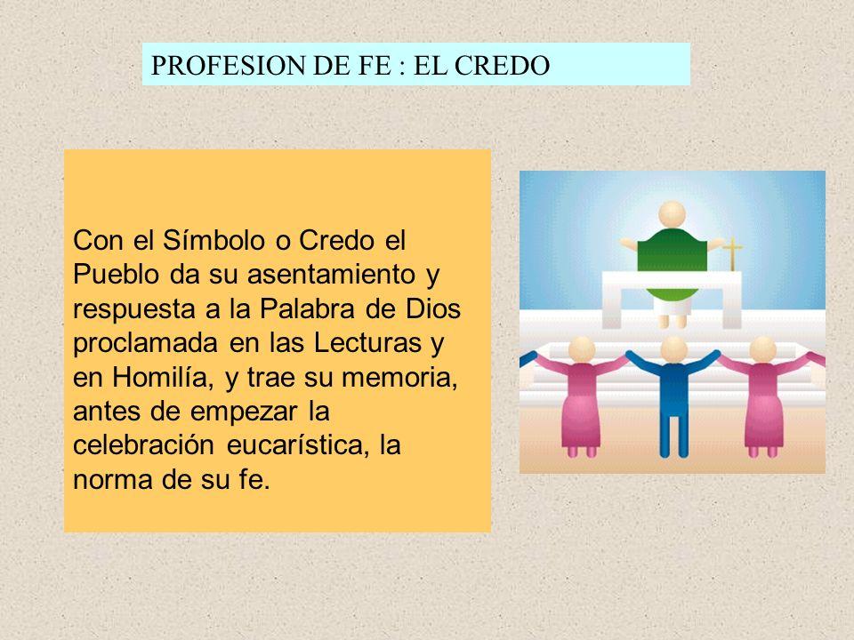 PROFESION DE FE : EL CREDO
