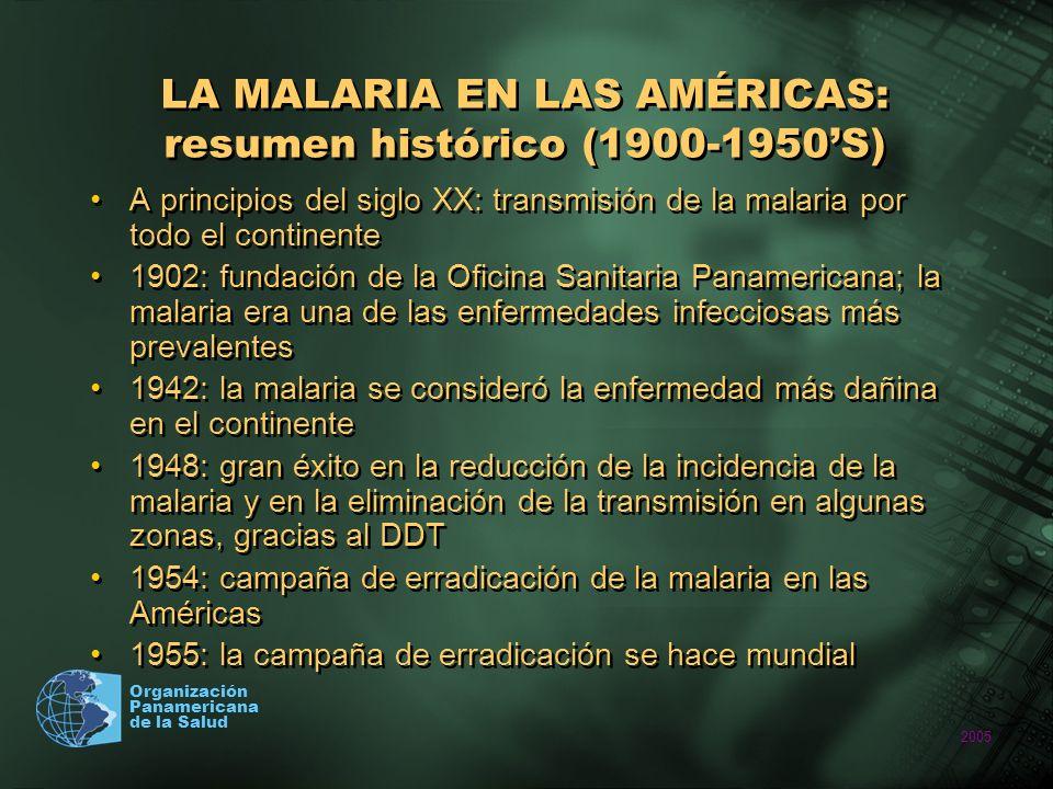 LA MALARIA EN LAS AMÉRICAS: resumen histórico (1900-1950'S)