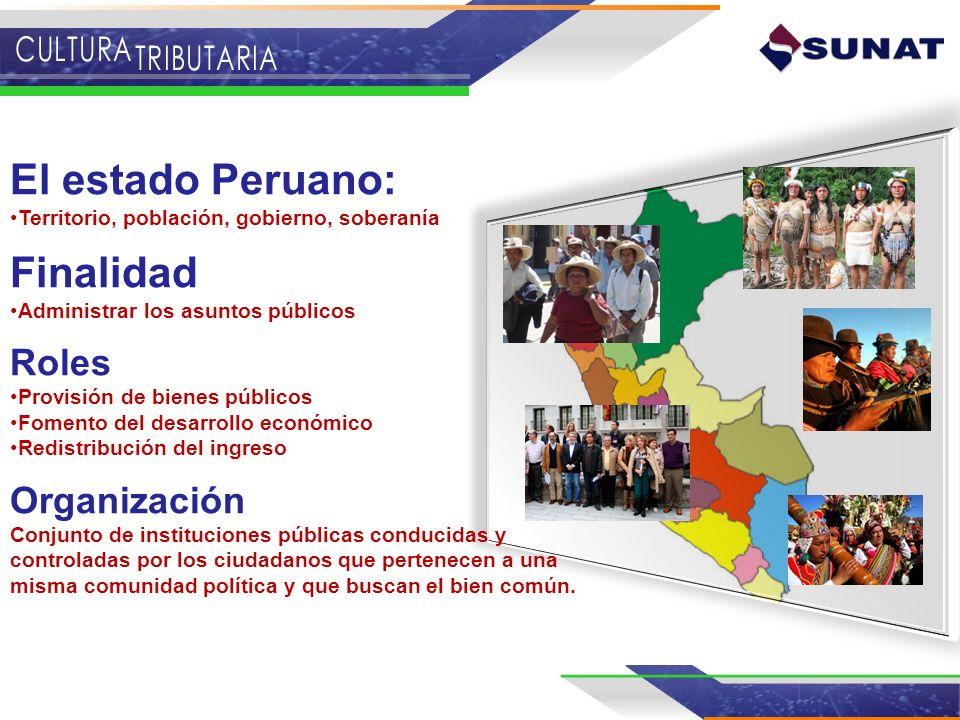 El estado Peruano: Finalidad Roles