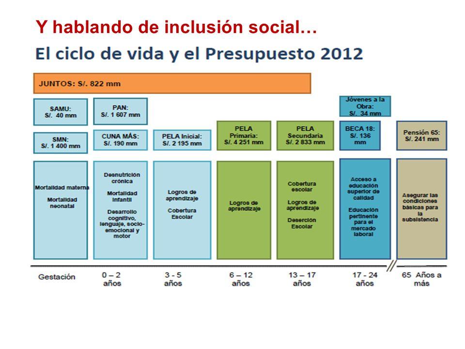 Y hablando de inclusión social…