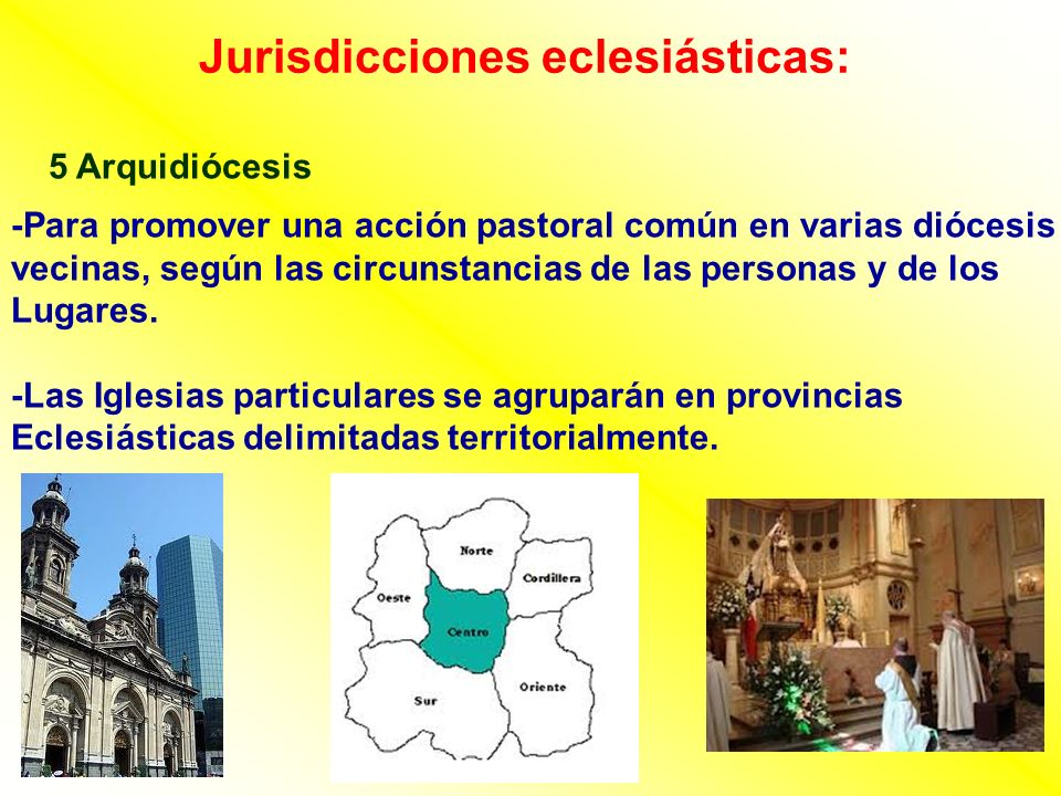 Jurisdicciones eclesiásticas:
