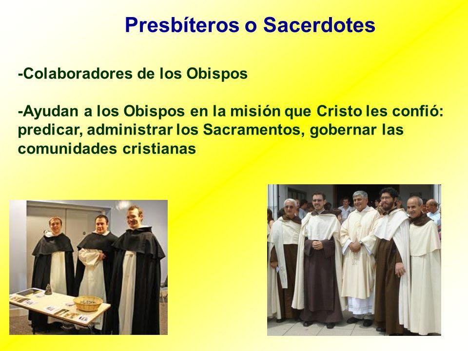 Presbíteros o Sacerdotes