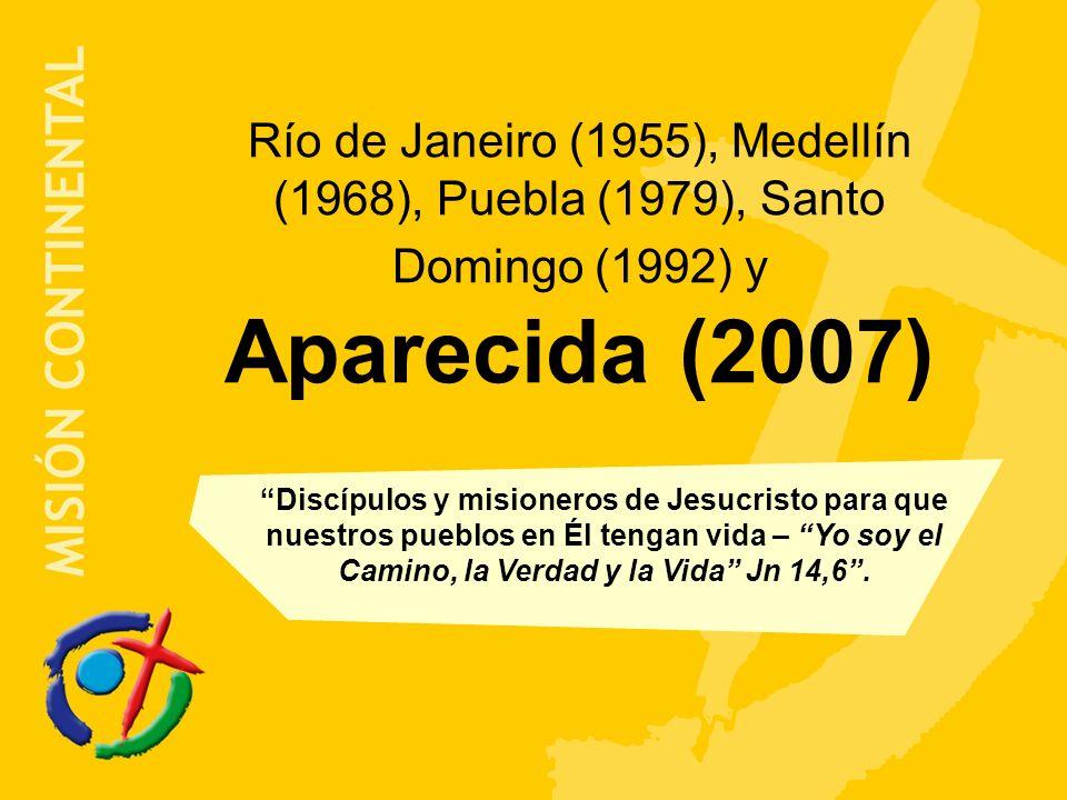 Río de Janeiro (1955), Medellín (1968), Puebla (1979), Santo Domingo (1992) y Aparecida (2007)