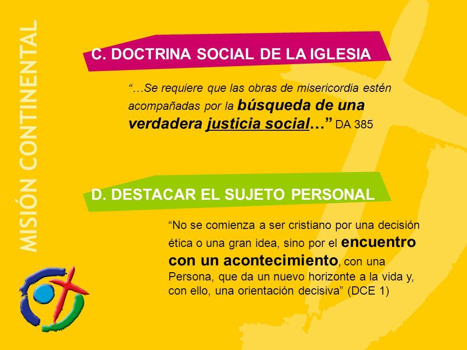 C. DOCTRINA SOCIAL DE LA IGLESIA