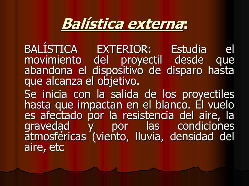 Balística externa: