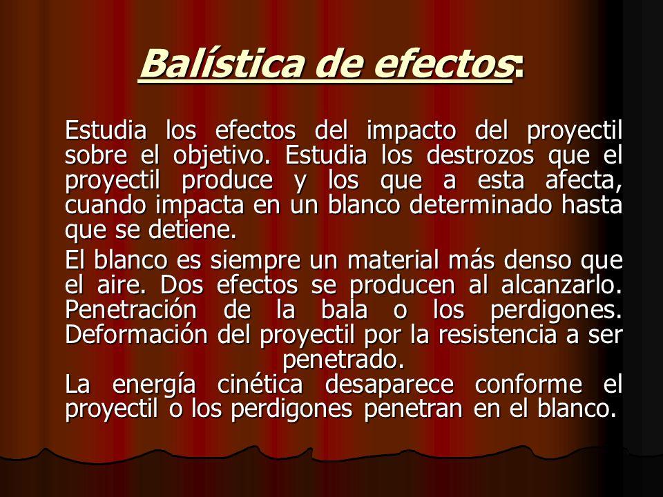 Balística de efectos: