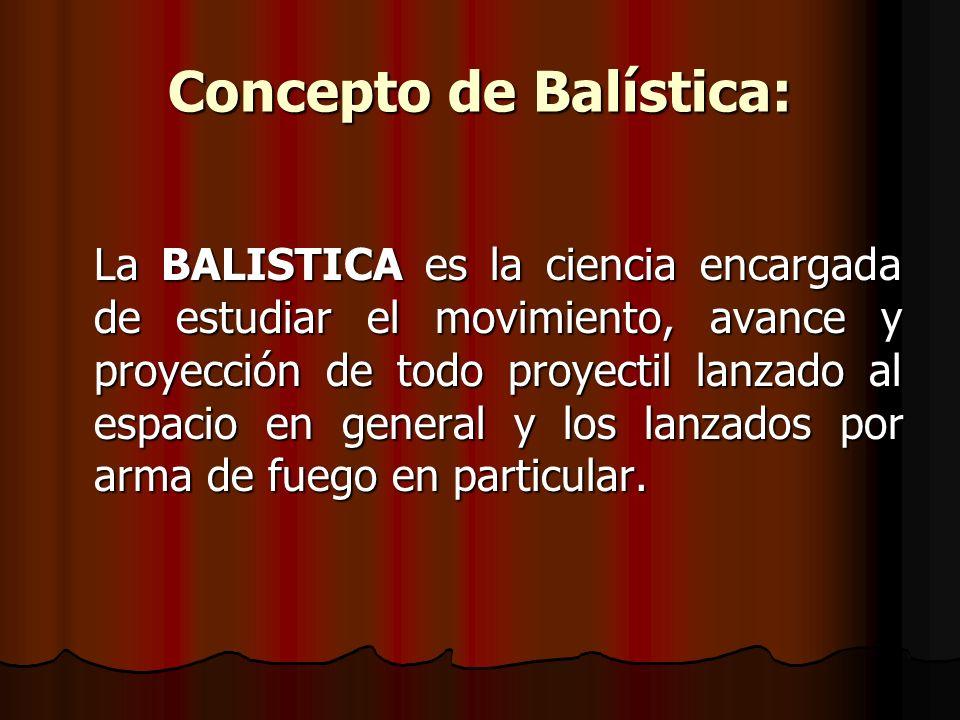 Concepto de Balística: