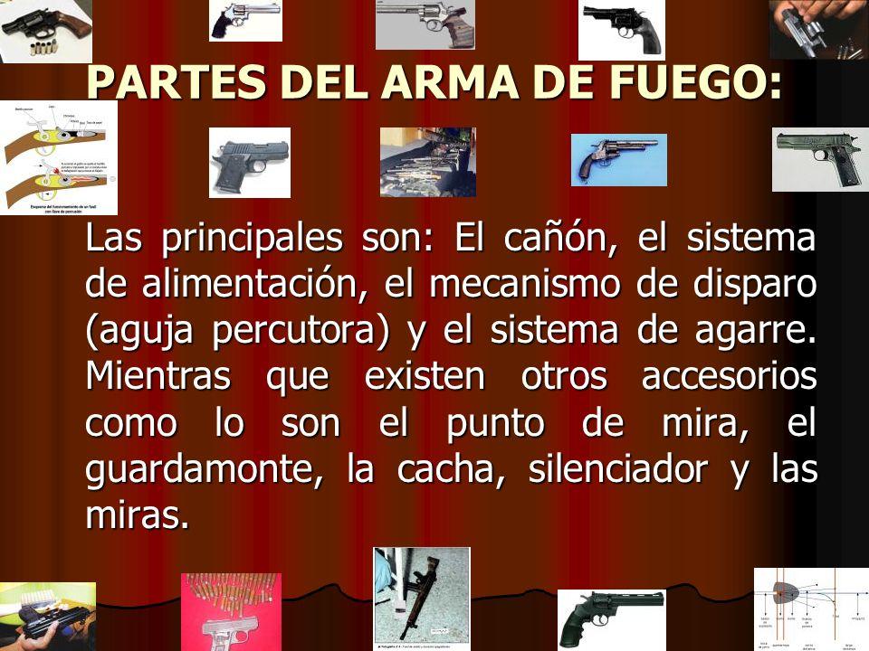 PARTES DEL ARMA DE FUEGO: