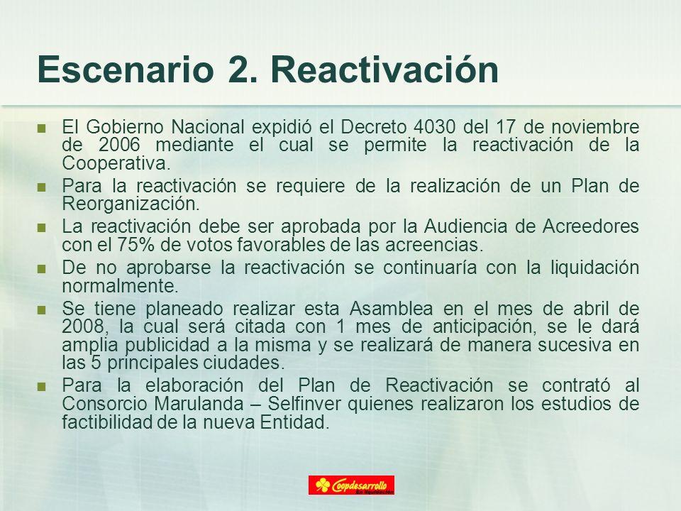 Escenario 2. Reactivación