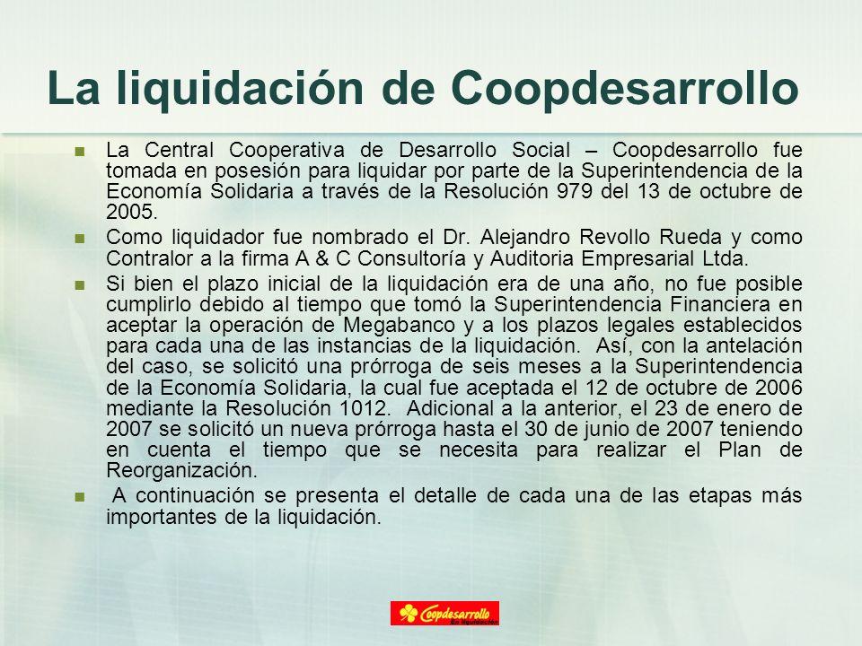 La liquidación de Coopdesarrollo