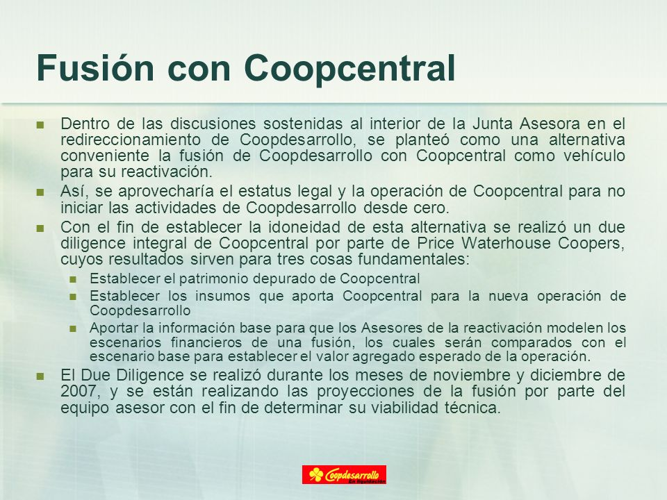 Fusión con Coopcentral