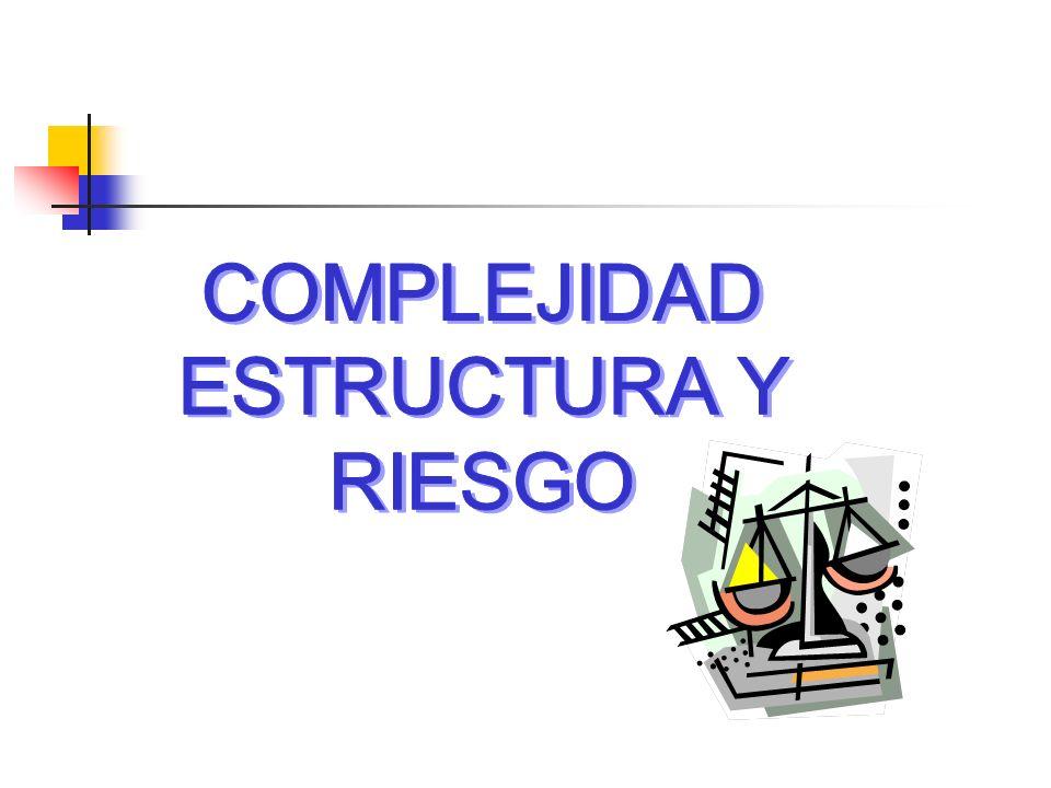 COMPLEJIDAD ESTRUCTURA Y RIESGO