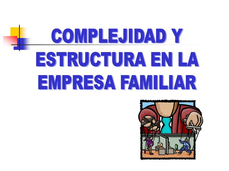 COMPLEJIDAD Y ESTRUCTURA EN LA EMPRESA FAMILIAR