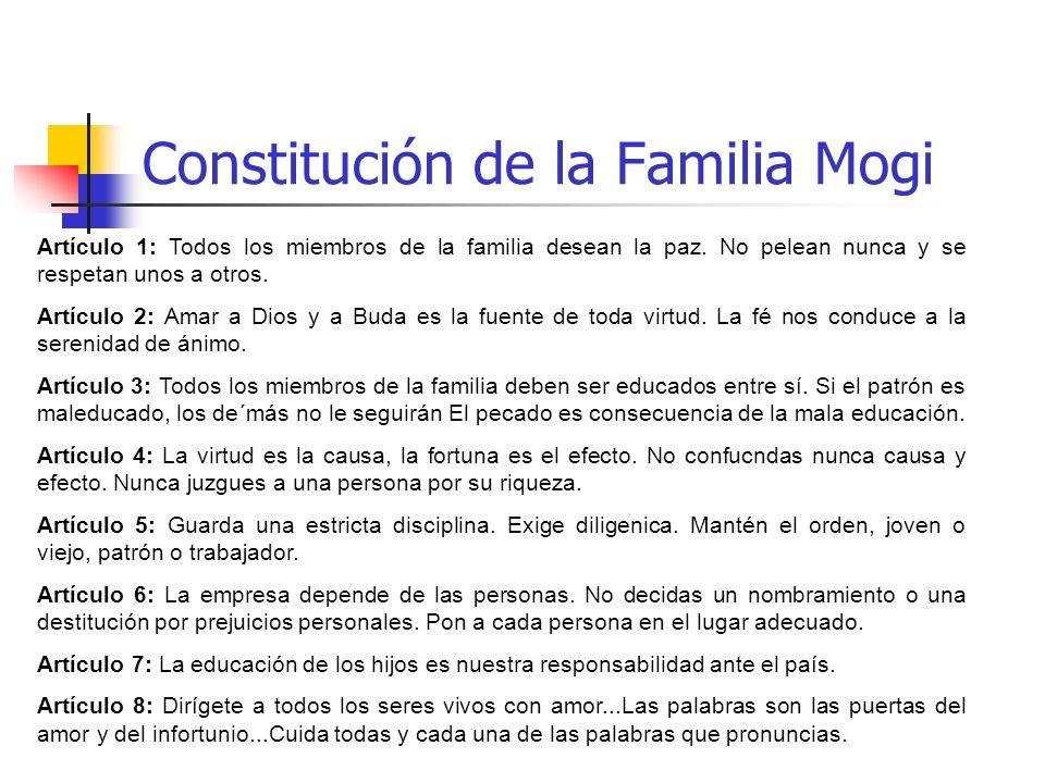 Constitución de la Familia Mogi
