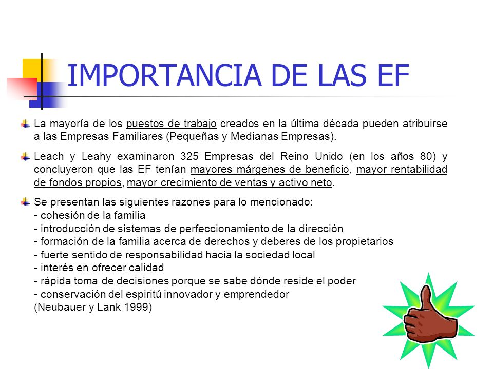 IMPORTANCIA DE LAS EF