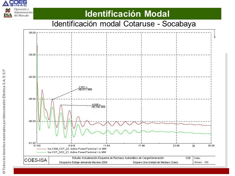 Identificación modal Cotaruse - Socabaya