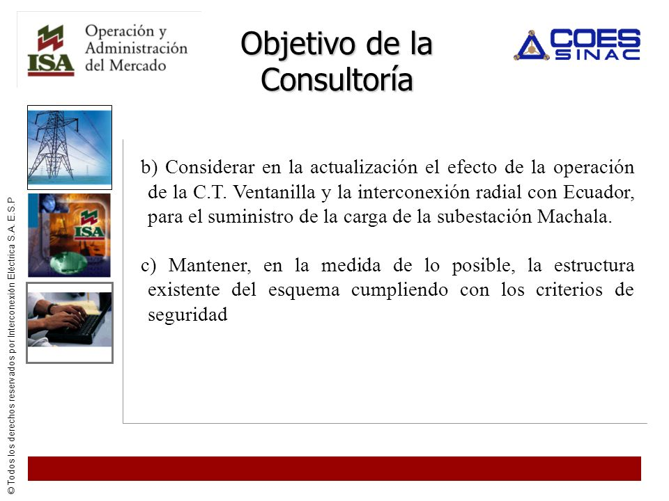 Objetivo de la Consultoría