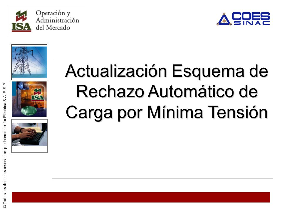 Actualización Esquema de Rechazo Automático de Carga por Mínima Tensión