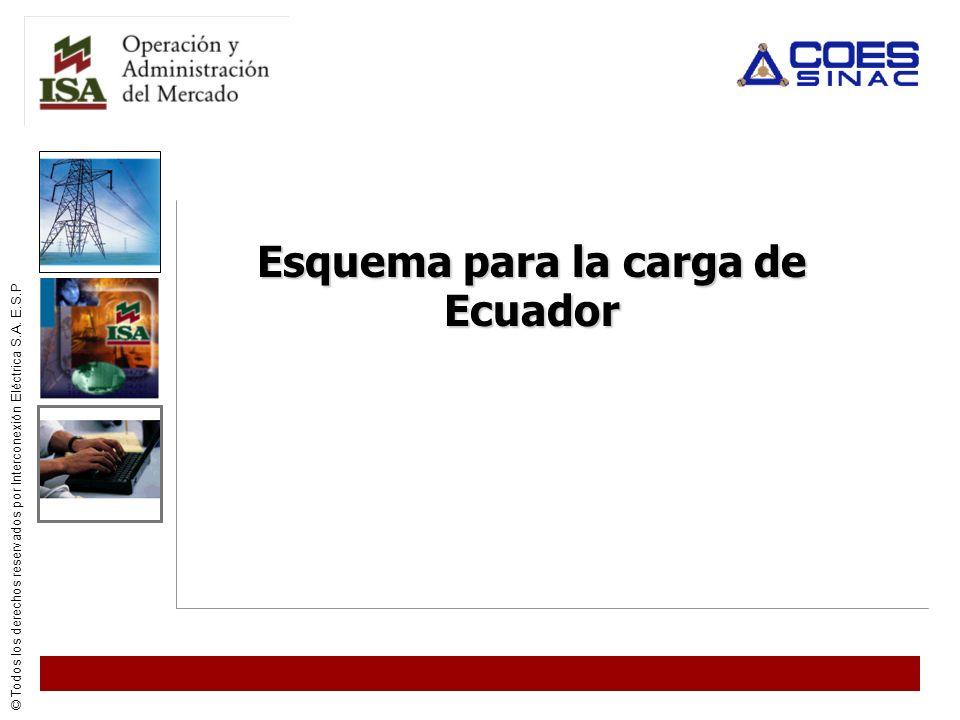 Esquema para la carga de Ecuador