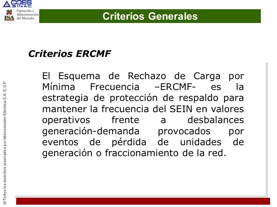 Criterios Generales Criterios ERCMF