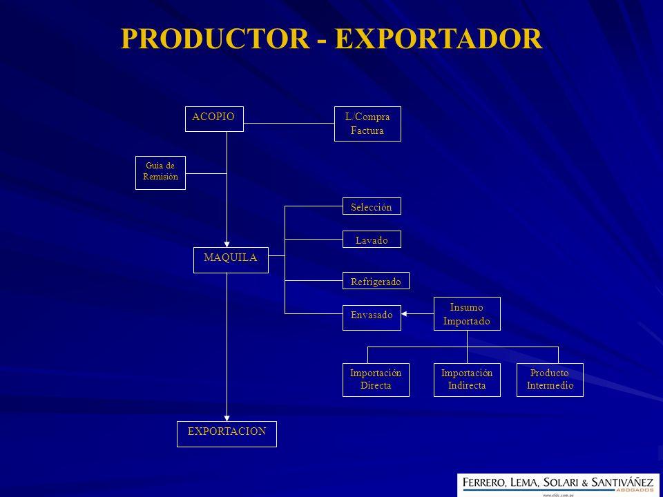 PRODUCTOR - EXPORTADOR