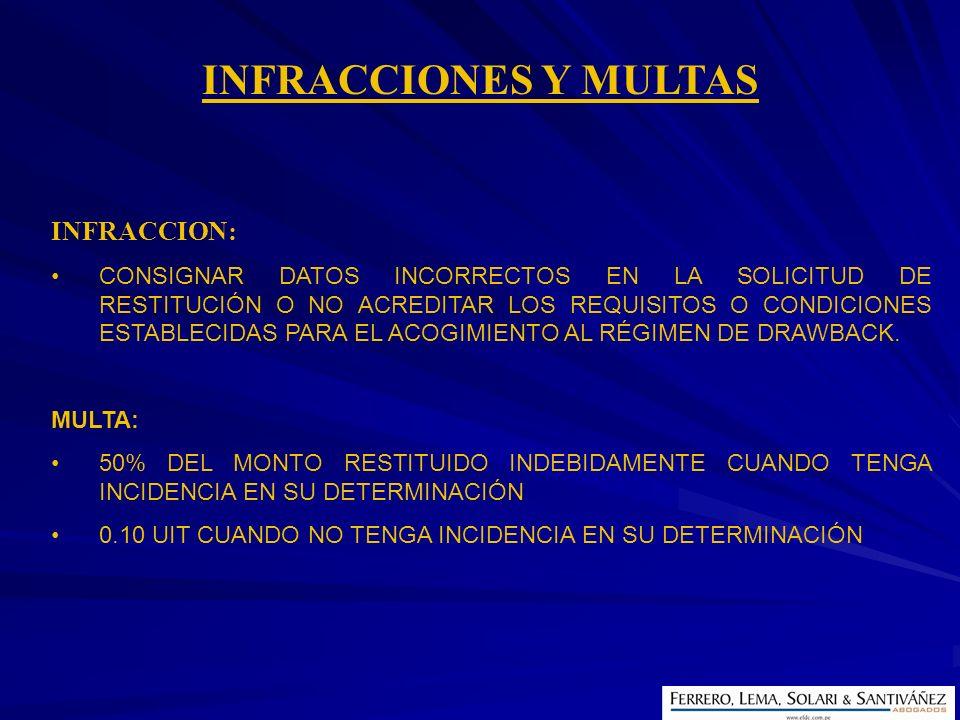 INFRACCIONES Y MULTAS INFRACCION: